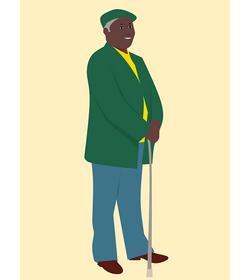 優雅紳士長輩-【摺疊拐杖推薦】讓長輩像個優雅的紳士.淑女