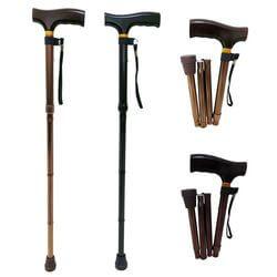 鋁合金折疊式五段調整手杖-拐杖推薦與拐杖挑選