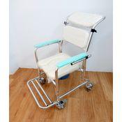 帶輪型可洗頭便盆椅(三段後調)