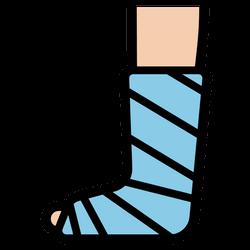 下肢/腳骨折術後固定