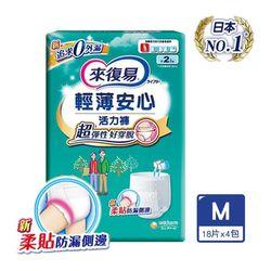 【來復易】輕薄安心活力褲M-XL 4包.箱(成人紙尿褲)